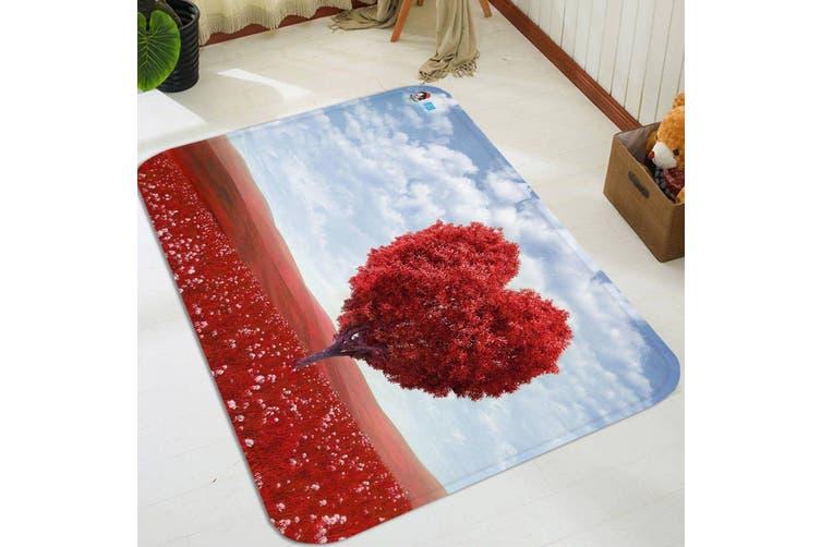 "3D Red Heart Shaped Tree 49 Non Slip Rug Mat, 60cmx90cm (23.6""x35.4"")"