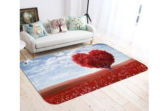 "3D Red Heart Shaped Tree 49 Non Slip Rug Mat, 140cmx200cm (55.1""x78.8"")"