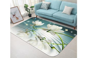 "3D Fresh Pure Flowers 45 Non Slip Rug Mat, 40cmx60cm (15.7""x23.6"")"