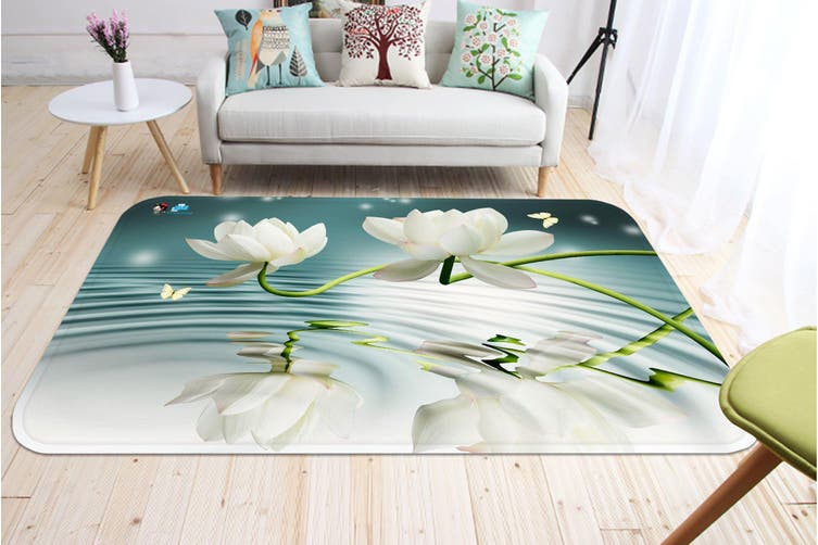 "3D Fresh Pure Flowers 45 Non Slip Rug Mat, 140cmx200cm (55.1""x78.8"")"