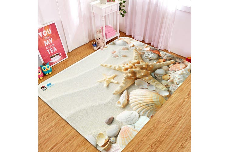 "3D Beach Treasures 20 Non Slip Rug Mat, 160cmx240cm (63""x94.5"")"