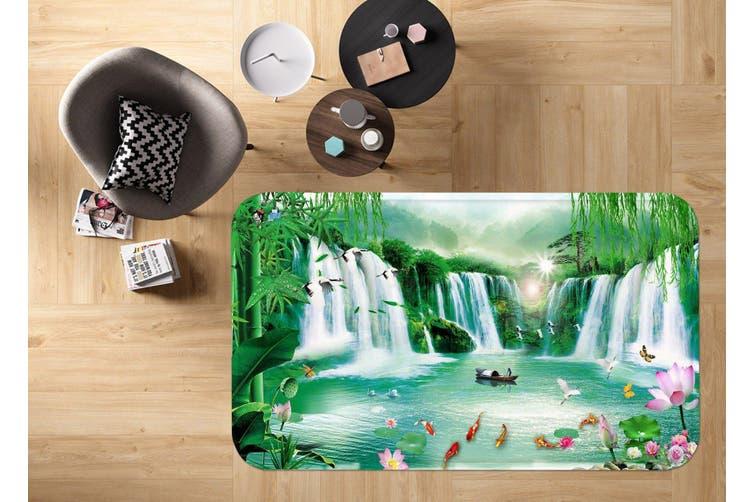 """3D Waterfalls 18 Non Slip Rug Mat, 140cmx200cm (55.1""""x78.8"""")"""