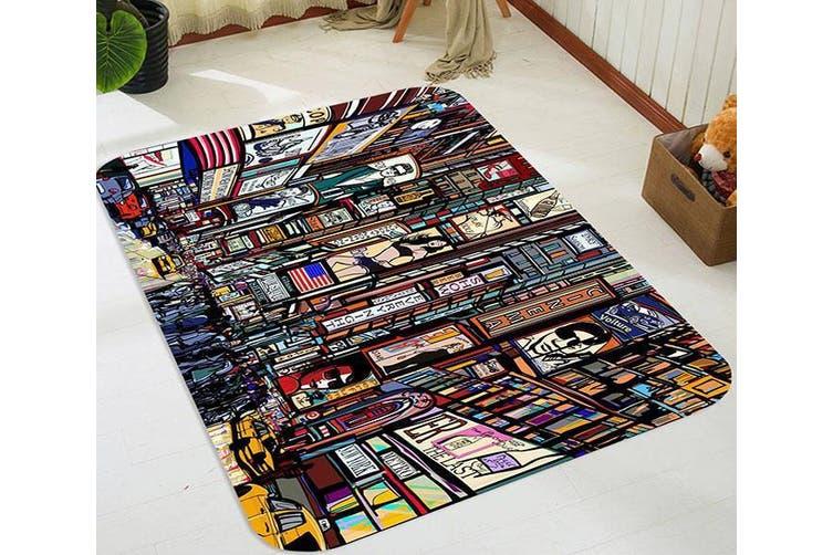 "3D Busy City Painting 16 Non Slip Rug Mat, 120cmx180cm (47.2""x70.9"")"