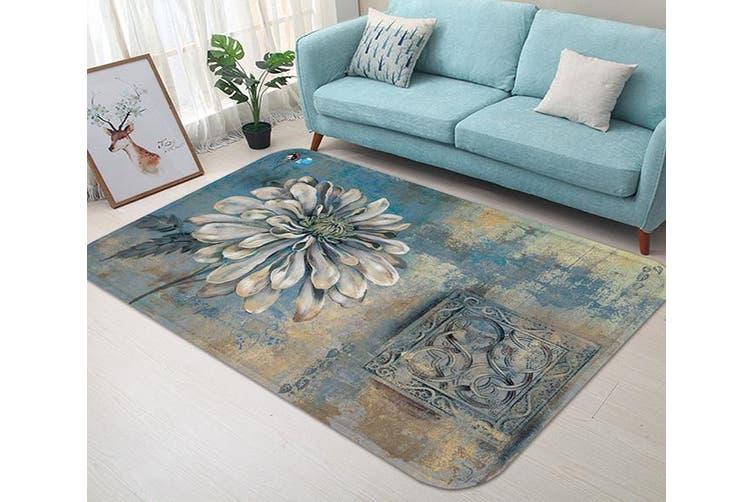 """3D Retro Flower Painting 15 Non Slip Rug Mat, 40cmx60cm (15.7""""x23.6"""")"""