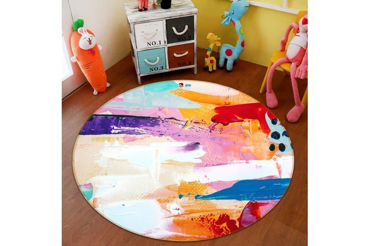 3D Color Pattern 3716 Round Non Slip Rug Mat, 120cm(47.2'')