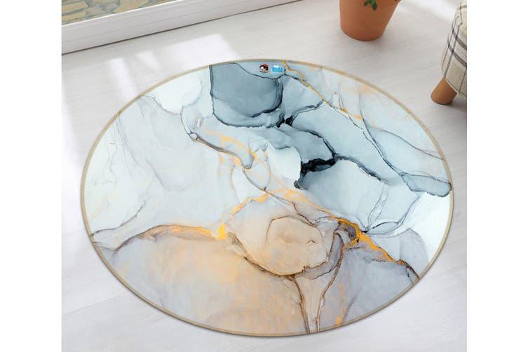3D Color Mosaic 7362 Round Non Slip Rug Mat, 60cm(23.6'')