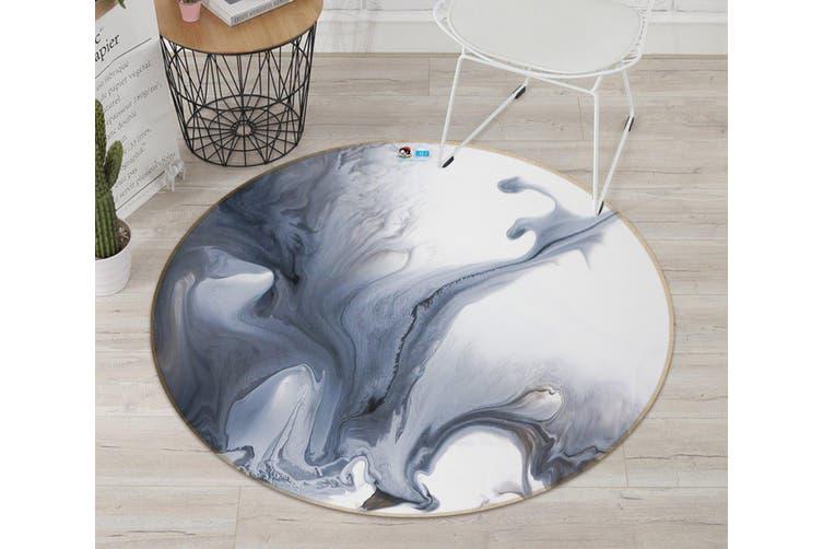 3D Dark Color Pattern 1439 Round Non Slip Rug Mat, 60cm(23.6'')