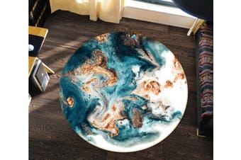 3D Emerald Green Marble Texture 2745 Round Non Slip Rug Mat, 60cm(23.6'')