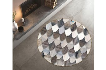 3D Sense Of Level 6956 Round Non Slip Rug Mat, 160cm(63'')