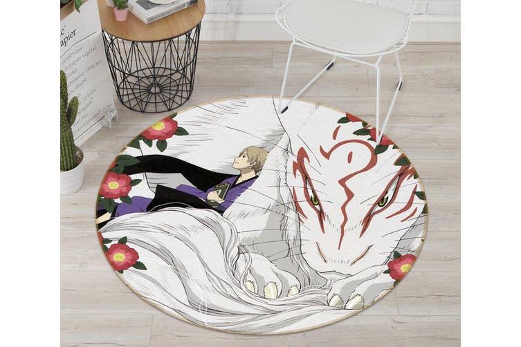 3D Natsume 2733 Round Anime Non Slip Rug Mat, 200cm(78.7'')