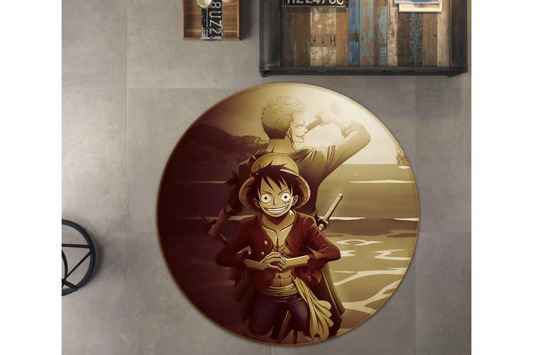 3D Onepiece 5698 Round Anime Non Slip Rug Mat, 100cm(39.4'')