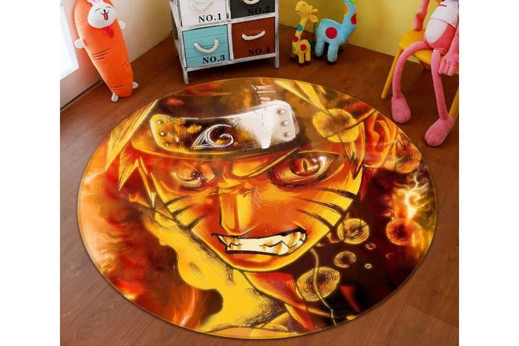 3D Naruto 6845 Round Anime Non Slip Rug Mat, 120cm(47.2'')