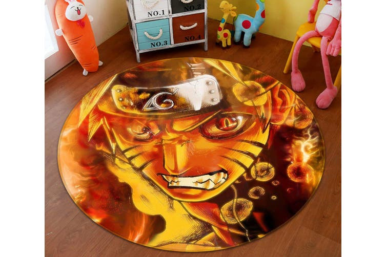 3D Naruto 6845 Round Anime Non Slip Rug Mat, 180cm(70.9'')