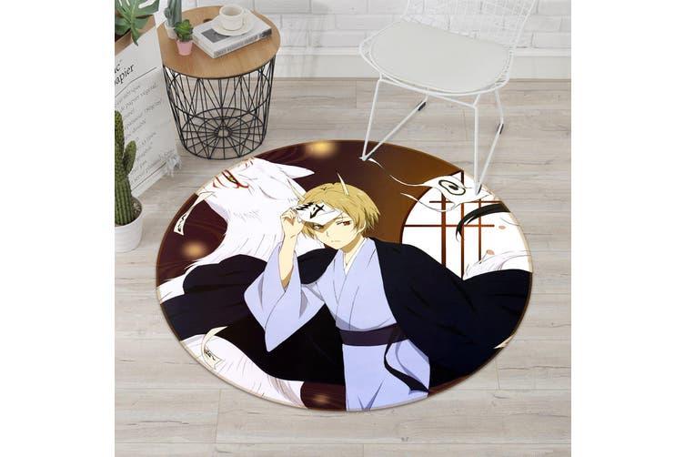 3D Natsume 8496 Round Anime Non Slip Rug Mat, 120cm(47.2'')