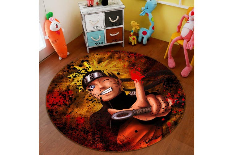 3D Naruto 3742 Round Anime Non Slip Rug Mat, 60cm(23.6'')