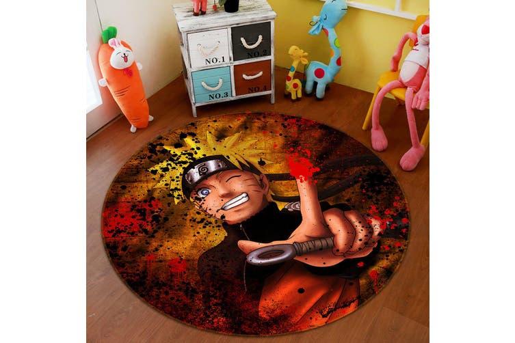 3D Naruto 3742 Round Anime Non Slip Rug Mat, 200cm(78.7'')