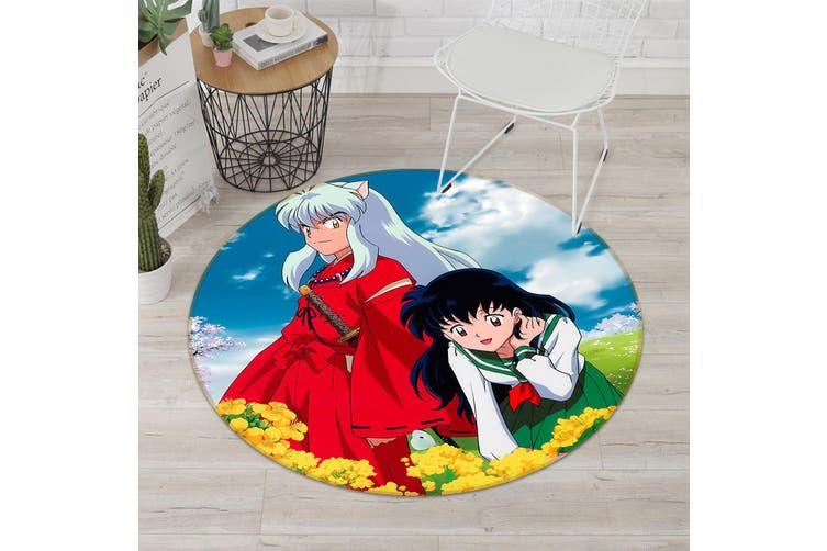 3D Inuyasha 538 Round Anime Non Slip Rug Mat, 200cm(78.7'')