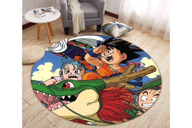 3D Dragon Sky Boy 577 Round Anime Non Slip Rug Mat, 120cm(47.2'')