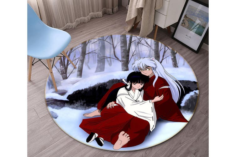 3D Inuyasha 3482 Round Anime Non Slip Rug Mat, 200cm(78.7'')