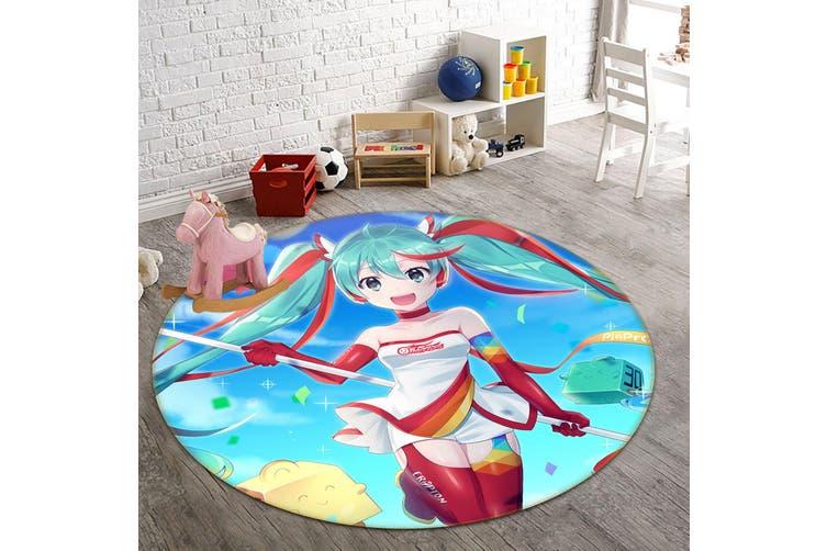 3D Hatsune Miku 864 Round Anime Non Slip Rug Mat, 200cm(78.7'')