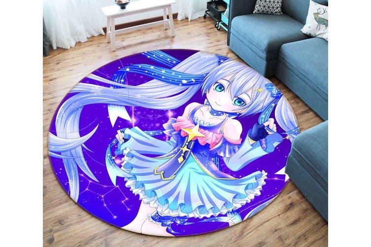 3D Hatsune Miku 253 Round Anime Non Slip Rug Mat, 160cm(63'')