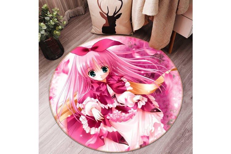 3D Byakuya Chaki 964 Round Anime Non Slip Rug Mat, 120cm(47.2'')