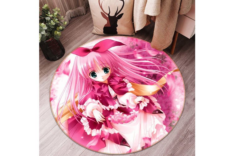 3D Byakuya Chaki 964 Round Anime Non Slip Rug Mat, 180cm(70.9'')