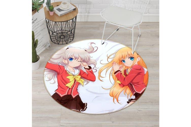 3D Charlotte 236 Round Anime Non Slip Rug Mat, 100cm(39.4'')