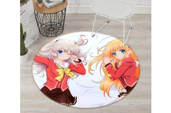 3D Charlotte 236 Round Anime Non Slip Rug Mat, 200cm(78.7'')