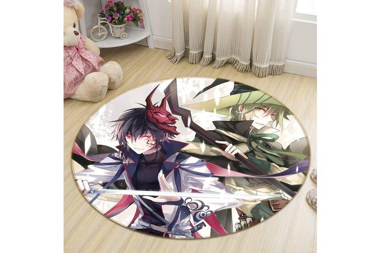 3D Flurry Of Sword 564 Round Anime Non Slip Rug Mat, 60cm(23.6'')