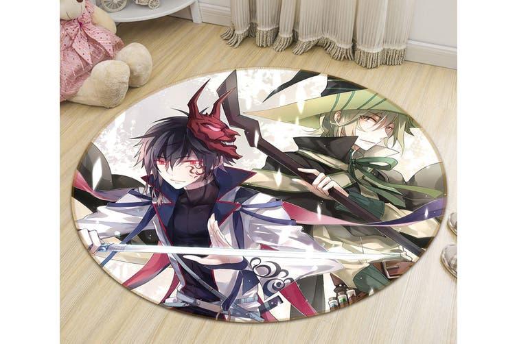 3D Flurry Of Sword 564 Round Anime Non Slip Rug Mat, 120cm(47.2'')