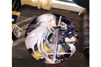 3D Flurry Of Sword 377 Round Anime Non Slip Rug Mat, 160cm(63'')