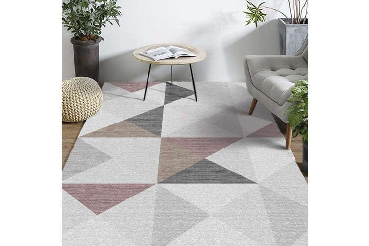 "3D Colored Triangle WG245 Non Slip Rug Mat, 80cmx120cm (31.4""x47.24"")"