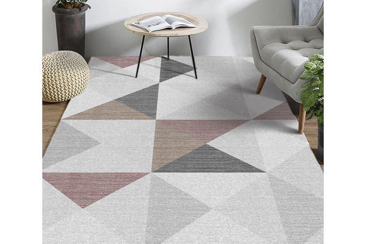 "3D Colored Triangle WG245 Non Slip Rug Mat, 140cmx200cm (55.1""x78.8"")"
