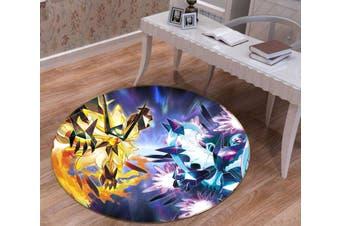 3D Pokemon 3652 Round Anime Non Slip Rug Mat, 100cm(39.4'')