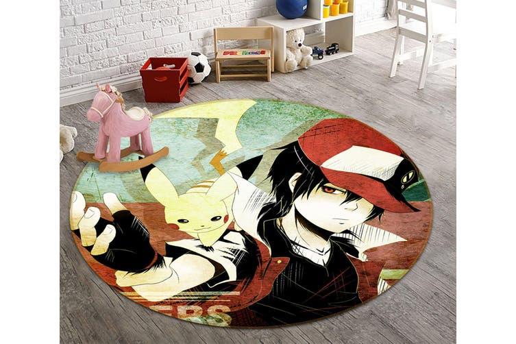 3D Pokemon 2743 Round Anime Non Slip Rug Mat, 180cm(70.9'')