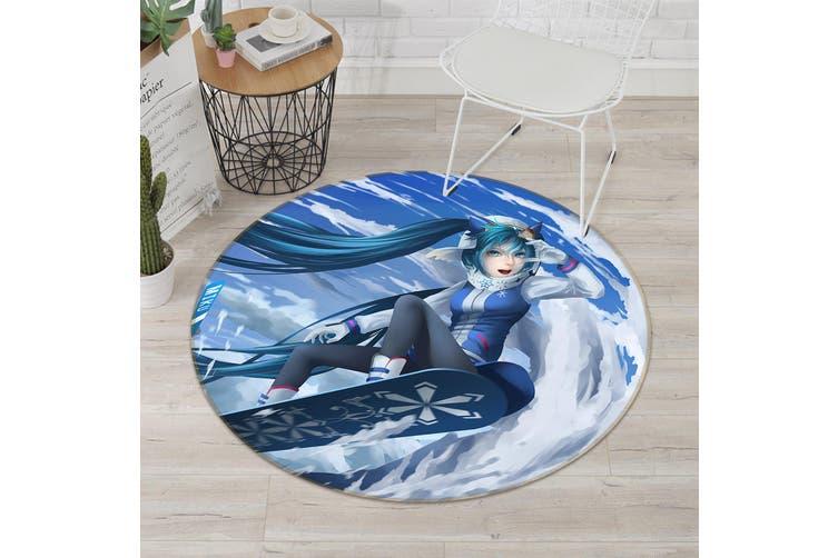 3D Hatsune Miku 3724 Round Anime Non Slip Rug Mat, 200cm(78.7'')