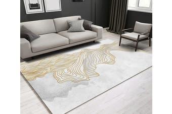 "3D Golden Lines WG244 Non Slip Rug Mat, 160cmx240cm (63""x94.5"")"