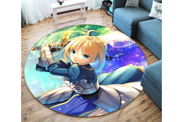 3D Fate stay night 942 Round Anime Non Slip Rug Mat, 160cm(63'')