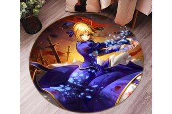 3D Fate stay night 657 Round Anime Non Slip Rug Mat, 200cm(78.7'')
