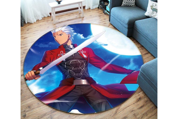 3D Fate stay night 871 Round Anime Non Slip Rug Mat, 160cm(63'')