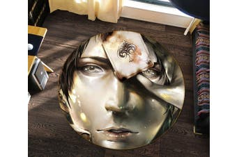 3D Attack On Titan 371 Round Anime Non Slip Rug Mat, 200cm(78.7'')