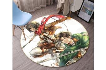 3D Attack On Titan 856 Round Anime Non Slip Rug Mat, 160cm(63'')