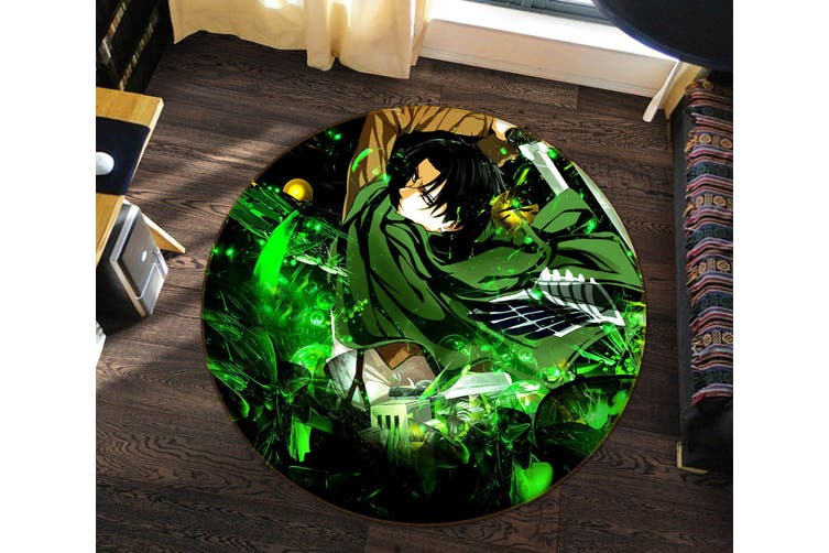 3D Attack On Titan 549 Round Anime Non Slip Rug Mat, 120cm(47.2'')