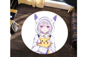3D Pokemon 3467 Round Anime Non Slip Rug Mat, 200cm(78.7'')