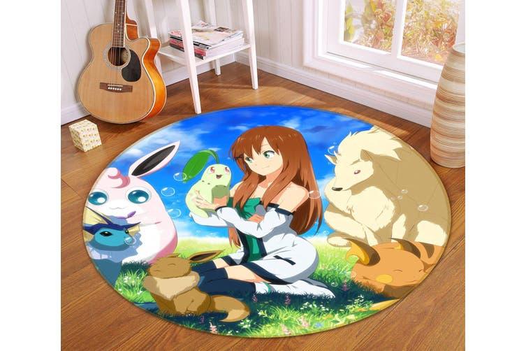 3D Pokemon 6846 Round Anime Non Slip Rug Mat, 200cm(78.7'')