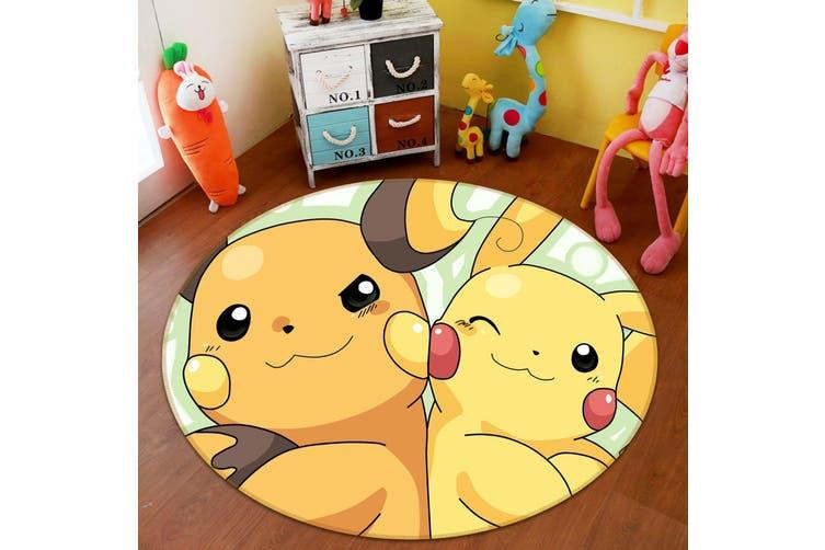 3D Pokemon 1685 Round Anime Non Slip Rug Mat, 60cm(23.6'')