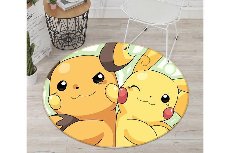 3D Pokemon 1685 Round Anime Non Slip Rug Mat, 200cm(78.7'')