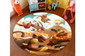 3D Pokemon 8264 Round Anime Non Slip Rug Mat, 60cm(23.6'')