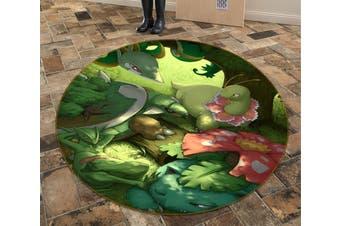 3D Pokemon 6978 Round Anime Non Slip Rug Mat, 120cm(47.2'')
